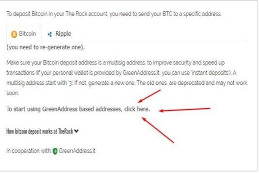depositare bitcoin